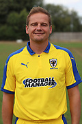 AFC Wimbledon manager Neal Ardley during the AFC Wimbledon 2018/19 official photocall at the Kings Sports Ground, New Malden, United Kingdom on 31 July 2018. Picture by Matthew Redman.