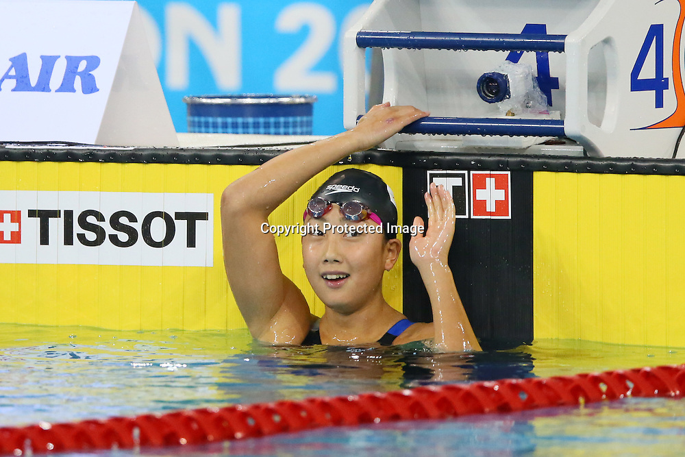 Chihiro Igarashi (JPN), <br /> SEPTEMBER 24, 2014 - Swimming : <br /> Women's 200m Freestyle Final <br /> at Munhak Park Tae-hwan Aquatics Center <br /> during the 2014 Incheon Asian Games in Incheon, South Korea. <br /> (Photo by YUTAKA/AFLO SPORT)