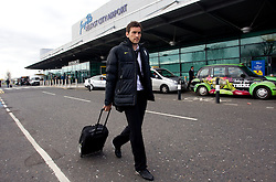 Goran Sukalo at arrival of Slovenia's National football team to Belfast, Northern Ireland for EURO 2012 Quaifications game between National teams of Slovenia and Northern Ireland, on March 28, 2011, at George Best Belfast City Airport, Northern Ireland, United Kingdom. (Photo by Vid Ponikvar / Sportida)