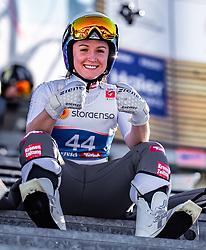 25.02.2019, Seefeld, AUT, FIS Weltmeisterschaften Ski Nordisch, Seefeld 2019, Skisprung, Damen, Training, im Bild Jacqueline Seifriedsberger (AUT) // Jacqueline Seifriedsberger of Austria during the training for the ladie's Skijumping HS109 competition of FIS Nordic Ski World Championships 2019. Seefeld, Austria on 2019/02/25. EXPA Pictures © 2019, PhotoCredit: EXPA/ JFK