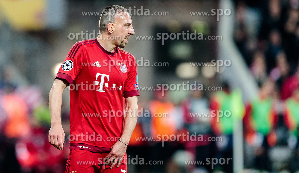 03.05.2016, Allianz Arena, Muenchen, GER, UEFA CL, FC Bayern Muenchen vs Atletico Madrid, Halbfinale, Rueckspiel, im Bild enttäuscht Franck Ribery (FC Bayern Muenchen) // dejected Franck Ribery (FC Bayern Muenchen) during the UEFA Champions League semi Final, 2nd Leg match between FC Bayern Munich and Atletico Madrid at the Allianz Arena in Muenchen, Germany on 2016/05/03. EXPA Pictures © 2016, PhotoCredit: EXPA/ JFK