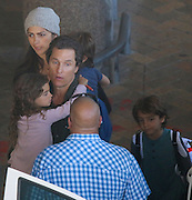 "EXCLUSIVE<br /> Matthew Mc Conaughey and his wife Camila Alves jetted in to Cape Town with their 3 children, Levi, Livingstone and Vida on Sunday evening. Matthew is due to start work on his latest movie, Stephen King's ""The Dark Tower"". He will be filming alongside Idris Elba and Canadian actress Kathryn Winnick. The family later had dinner at a popular seaside restaurant where Camila was seen dashing out mid-order to grab a quick ice cream for her and the children. <br /> ©Starpics/Exclusivepix Media"
