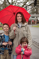 Lori Chance, a single mom who lives near Portland, Oregon with her son and her daughter.