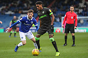 Forest Green Rovers Reece Brown(10) on the ball during the EFL Sky Bet League 2 match between Oldham Athletic and Forest Green Rovers at Boundary Park, Oldham, England on 12 January 2019.