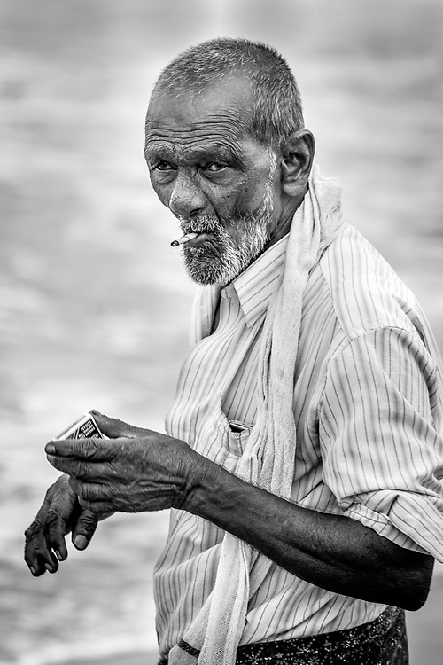 Portrait of Fisherman from Kovalam, Kerala. India. Photo by Lorenz Berna