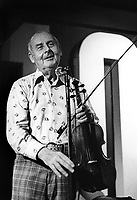 French jazz violinist Stephane Grappelli in 1979 at 100 Club London