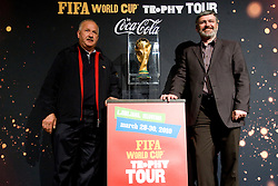 and Roman Jakic  at VIP reception of FIFA World Cup Trophy Tour by Coca-Cola, on March 29, 2010, in BTC City, Ljubljana, Slovenia.  (Photo by Vid Ponikvar / Sportida)