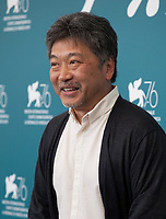 Director Hirokazu Kore-eda at the photocall for the film The Truth (La Vérité) at the 76th Venice Film Festival, on Wednesday 28th August 2019, Venice Lido, Italy.