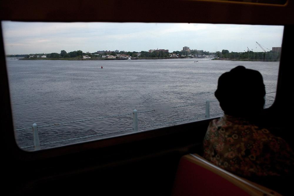 Rockaway community from the A train in Brooklyn, NY on June 24, 2012.