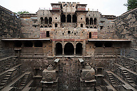 the giant step well of abhaneri in rajasthan state in india