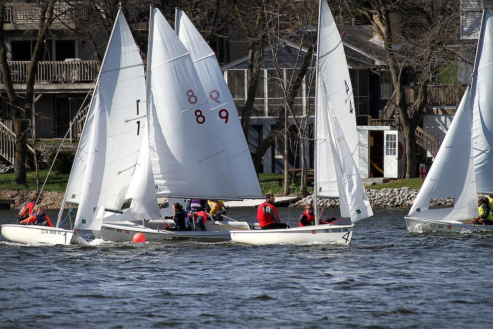 MCSA sailboat racing at Lake MacBride in Iowa City.