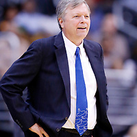 25 May 2014: San Antonio Stars head coach Dan Hughes is seen during the Los Angeles Sparks 83-62 victory over the San Antonio Stars, at the Staples Center, Los Angeles, California, USA.