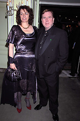 MR & MRS TIMOTHY SPALL attending the 27th Awards of the London Film Critics' Circle 2007 in aid of the NSPCC held at The Dorchester, Park Lane, London on 8th February 2007.<br />