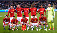 team picture of Man ute  pictured pictured during  UEFA Europa League quarter final first leg match between Rsc Anderlecht and Manchester United 13/04/2017. <br /> Norway only<br /> lagbilde