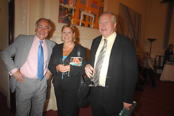 Left to right, MICHAEL HOWARD, ANJI HUNTER and ADAM BOULTON at a party to celebrate the publication of Sandra Howard's book 'Ursula's Stor' held at The British Academy, 10 Carlton House Terace, London on 4th September 2007.<br />