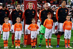 10-10-2019 NED: Netherlands - Northern Ireland, Rotterdam<br /> UEFA Qualifying round Group C match between Netherlands and Northern Ireland at De Kuip in Rotterdam / line up Netherlands