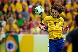 O zagueiro David Luiz durante a partida contra o Japão, válida pela primeira rodada da Copa das Confederações, no Estádio Nacional Mané Garrincha, em Brasília. FOTO: Jefferson Bernardes/Preview.com