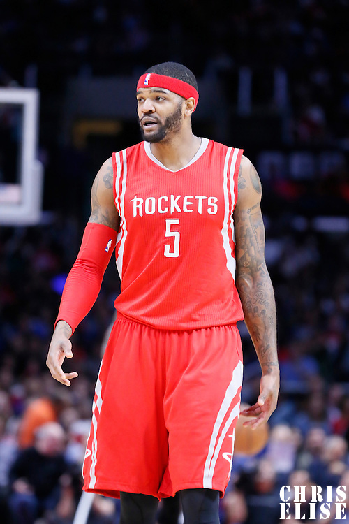 11 February 2015: Houston Rockets forward Josh Smith (5) is seen during the Los Angeles Clippers 110-95 victory over the Houston Rockets, at the Staples Center, Los Angeles, California, USA.