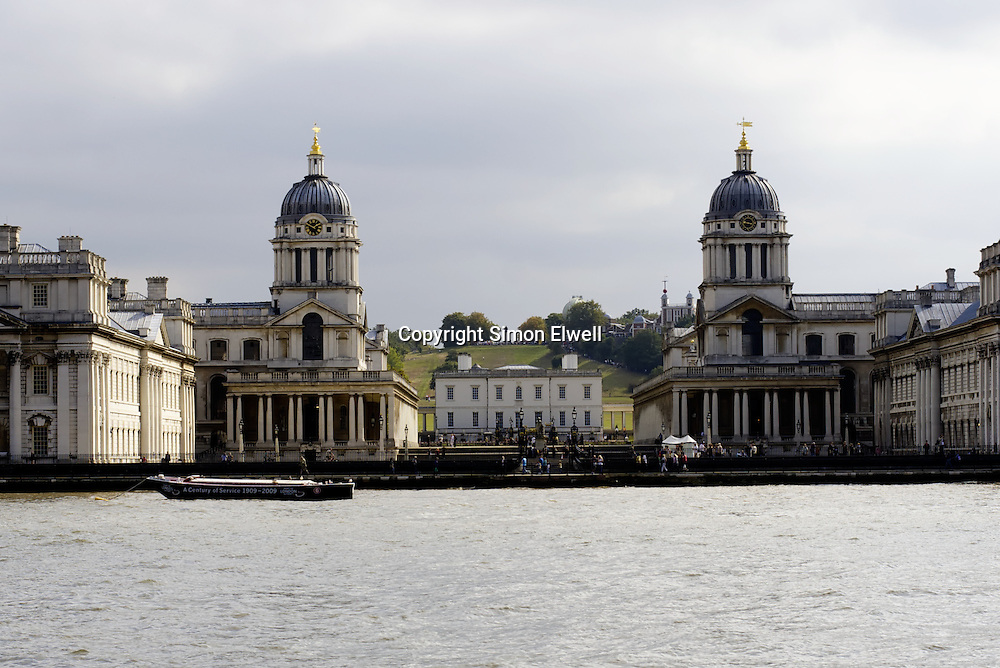 Greenwich College seem from the River Thames