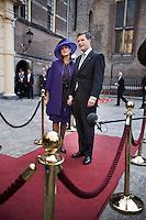 Nederland. Den Haag, 16 september 2008.<br /> Prinsjesdag.<br /> Minister-prsident Jan Peter Balkenende met echtgenote Bianca<br /> Foto Martijn Beekman<br /> NIET VOOR PUBLIKATIE IN LANDELIJKE DAGBLADEN.