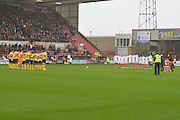 One minutes silence before the Sky Bet League 1 match between Swindon Town and Scunthorpe United at the County Ground, Swindon, England on 14 November 2015. Photo by Mark Davies.