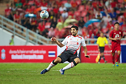 BANGKOK, THAILAND - Sunday, July 28, 2013: Liverpool's Luis Suarez in action against Thailand XI during a preseason friendly match at the Rajamangala National Stadium. (Pic by David Rawcliffe/Propaganda)
