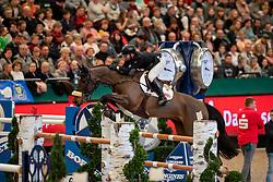 HELLSTRÖM Jacob (SWE), Jus d'Orange van'T Bisthof<br /> Leipzig - Partner Pferd 2019<br /> Longines FEI Jumping World Cup<br /> Sparkassen-Cup - Grosser Preis von Leipzig<br /> 20. Januar 2019<br /> © www.sportfotos-lafrentz.de/Stefan Lafrentz
