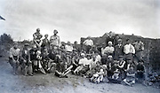 1920s rural masonry workers community group photo