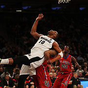 Kadeem Batts, (left), Providence, prepares to rebound during the Providence Vs St. John's Red Storm basketball game during the Big East Conference Tournament at Madison Square Garden, New York, USA. 12th March 2014. Photo Tim Clayton