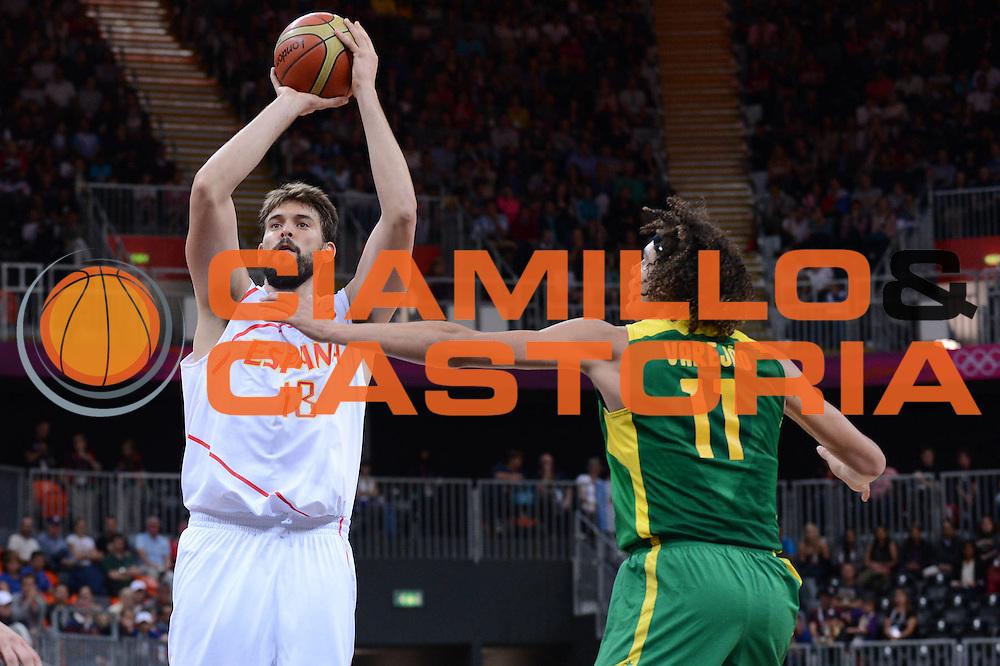 DESCRIZIONE : London Londra Olympic Games Olimpiadi 2012 Men Preliminary Round Spagna Brasile Spain Brazil<br /> GIOCATORE : Marc Gasol<br /> CATEGORIA :<br /> SQUADRA : Spagna Spain<br /> EVENTO : Olympic Games Olimpiadi 2012<br /> GARA : Spagna Brasile Spain Brazil<br /> DATA : 06/08/2012<br /> SPORT : Pallacanestro <br /> AUTORE : Agenzia Ciamillo-Castoria/M.Marchi<br /> Galleria : London Londra Olympic Games Olimpiadi 2012 <br /> Fotonotizia : London Londra Olympic Games Olimpiadi 2012 Men Preliminary Round Spagna Brasile Spain Brazil<br /> Predefinita :