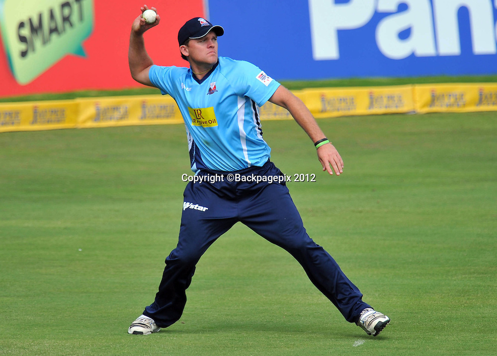 Lou Vincent of Auckland Aces during the 2012 Champions League Twenty20 cricket match between the Perth Scorchers and the Auckland Aces at Supersport Park in Centurion, South Africa on 23 October 2012 ©Chris Ricco/BackpagePix
