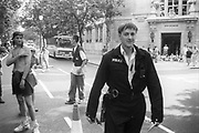 Police Man, at the 2nd Criminal Justice March, Victoria, London, UK, 23rd of July 1994.
