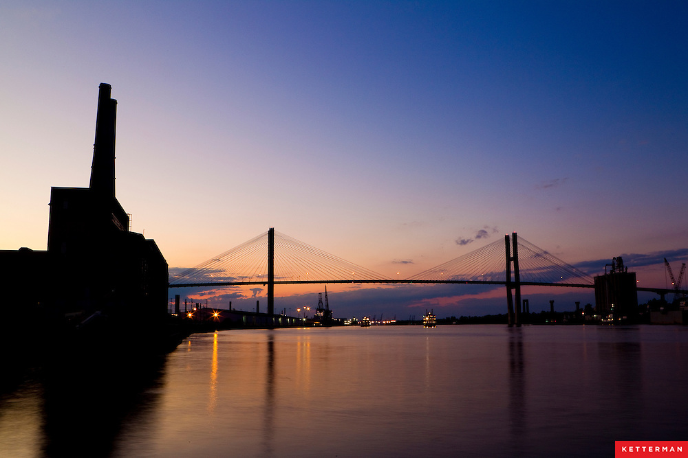 The Talmadge Memorial Bridge in Savannah Georgia