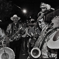 Mexicans Mariachis drink tequilas in the streets of Autlan, in the south West of Mexico, during one of the oldest Bullfighting carnival in Latin America.  .  Every year since 1831 the people of this town, celebrates a festivities before  the beginning of the Easter.