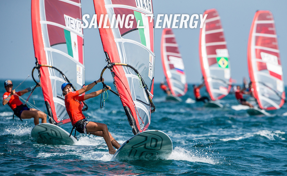 RS:X WORLD CHAMPIONSHIP 2015, October 17th-24th Al Mussanah Sports City, Sultanate of Oman.First day of racing 19.10.2015<br /> <br /> Credit Jesus Renedo/Oman Sail