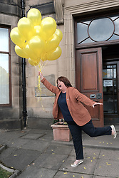 "Scottish Liberal Democrats celebrate English local election results with ""champagne moment"" and confetti cannons, Friday 3rd May 2019<br /> <br /> Scottish Liberal Democrat leader Willie Rennie and European election candidates celebrate the big gains made by Liberal Democrat colleagues overnight in the English local elections and send a message that in every corner of the UK, Liberal Democrats are the party of Remain,  leading the way in fighting to make the chaos of Brexit stop.<br /> <br /> Pictured: Christine Jardine MP<br /> <br /> Alex Todd 