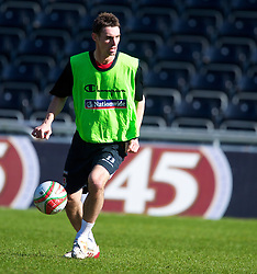 SWANSEA, WALES - Monday, March 1, 2010: Wales' Andy Dorman during training at the Liberty Stadium ahead of the international friendly match against Sweden. (Photo by David Rawcliffe/Propaganda)