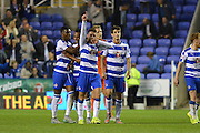 Reading's Oliver Norwood celebrates scoring Readings fifth goal during the Sky Bet Championship match between Reading and Ipswich Town at the Madejski Stadium, Reading, England on 11 September 2015. Photo by Mark Davies.