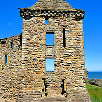St Andrews Castle Tower in St Andrews, Scotland<br />