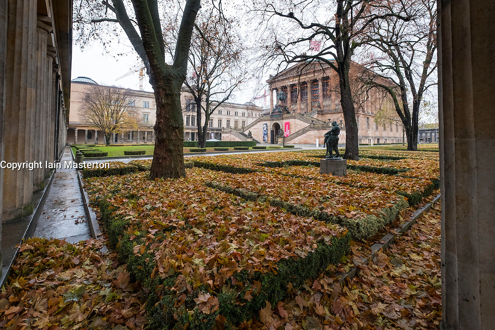 Autumn view of Neues Museum and Alte Nationalgalerie  on Museumsinsel, Berlin, Germany