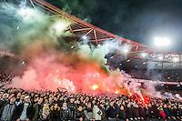 ROTTERDAM - Feyenoord - AZ , Voetbal , Seizoen 2015/2016 , Halve finales KNVB Beker , Stadion de Kuip , 03-03-2016 , Sfeeractie in de 12e minuut