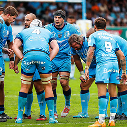 Team of Montpellier during the Top 14 match between Bayonne and Montpellier on October 12, 2019 in Bayonne, France. (Photo by JF Sanchez/Icon Sport) - --- - Stade Jean Dauger - Bayonne (France)