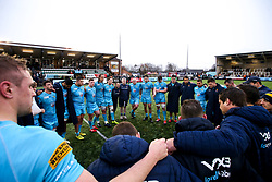 Worcester Warriors huddle at full time at Newcastle Falcons  - Mandatory by-line: Robbie Stephenson/JMP - 03/03/2019 - RUGBY - Kingston Park - Newcastle upon Tyne, England - Newcastle Falcons v Worcester Warriors - Gallagher Premiership Rugby