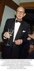 MR DAVID METCALFE father of Avery Agnelli,  at a party in London on 27th November 2002.<br />