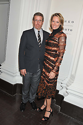 MARC GLIMCHER and ANDREA GLIMCHER at a party to celebrate the launch of the new gallery Pace at 6 Burlington Gardens, London on 3rd October 2012.