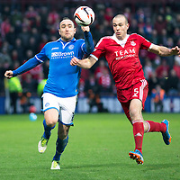 Aberdeen v St Johnstone....01.02.14   League Cup Semi-Final<br /> Lee Croft and Andy Considine<br /> Picture by Graeme Hart.<br /> Copyright Perthshire Picture Agency<br /> Tel: 01738 623350  Mobile: 07990 594431