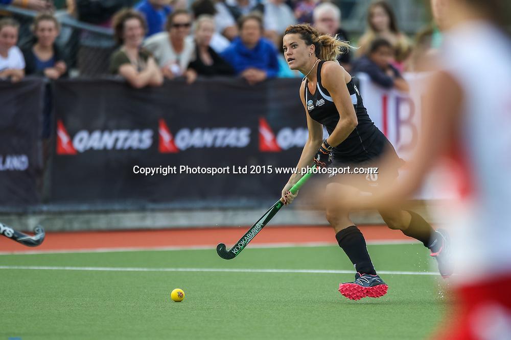 Natasha Fitzsimmons with the ball. International Womens Hockey. New Zealand Black Sticks v Canada. Whangarei. New Zealand. Thursday 5 February 2015. Copyright Photo: Heath Johnson / www.photosport.co.nz