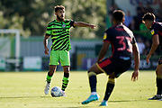 Dominic Bernard of Forest Green Rovers looks for help during the EFL Sky Bet League 2 match between Forest Green Rovers and Stevenage at the New Lawn, Forest Green, United Kingdom on 21 September 2019.