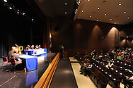 From left, Bucks County Commissioner candidates Brian Galloway (D-Pa.), Diane Ellis-Marseglia (D-Pa.) and Republican candidates Robert Loughery (R-Pa.) and Charles Martin (R-Pa.) participate in the League of Women Voters Debate as the audience looks on Friday October 23, 2015 at the Bucks County Community College auditorium in Newtown, Pennsylvania. (Photo by William Thomas Cain)