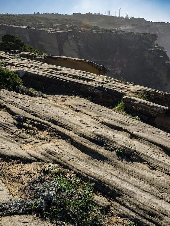 Uplifted sandstone